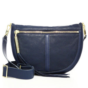 Elisabeth and James Blue Leather Crossbody Bag
